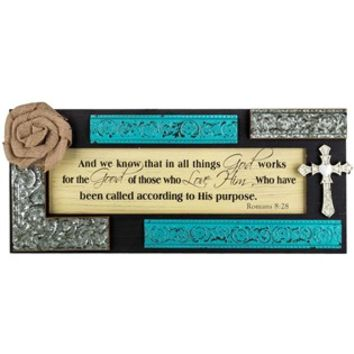 Metal & Wood Wall Decor with Flower & Cross | Shop Hobby Lobby