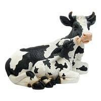 Mother Cow & Calf Garden Statue