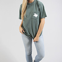 charlie southern: simple state pocket tee - texas