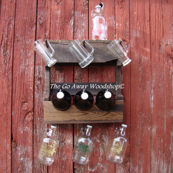 Growler rack, recycled pallet