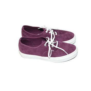 Vintage Suede Sneakers Purple Sneakers Burgundy Sneakers Suede Tennis Shoes Skate Boarding Shoes Skate Board Shoes 90s Grunge