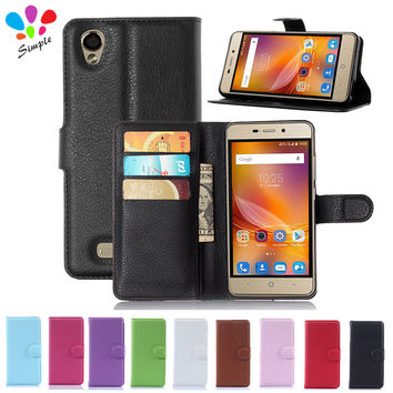 Luxury PU Leather Wallet Protective Case for ZTE Blade X3 SmartPhone