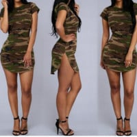 Women's camouflage TOP BLOUSE