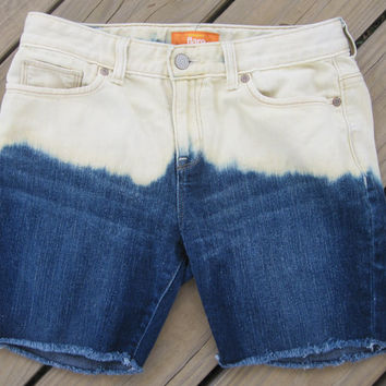 Girls Ombre Bleached Shorts Size 16 by DenimAndStuds on Etsy