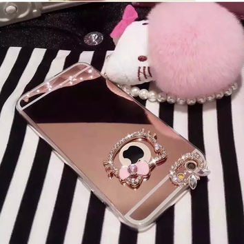 Hello Kitty Bling Mirror Phone Case for iphone 5/5S 6/6S 6/6S Plus