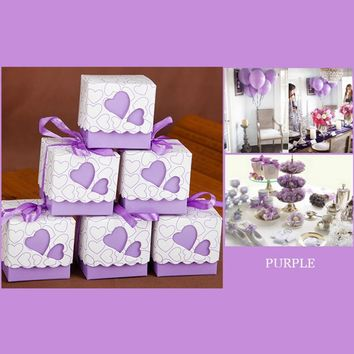 New Gift Boxes Wedding Favor Gift Box (100 pcs)