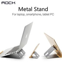 ROCK Luxury Aluminum Stand for Smartphone, Tablets or Laptop