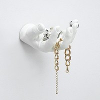 Areaware Hand Jewellery Holder in White - Urban Outfitters