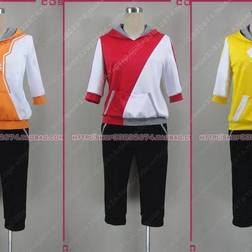 Pocket Monsters Game  Go Male female Trainer Avatar Anime Cosplay Costume red yellow orange coatumeKawaii Pokemon go  AT_89_9