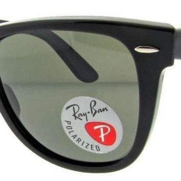 Ray Ban Polarized Sunglasses 2140 (Black Frame Crystal Green 50mm)