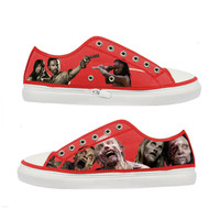 The Walking Dead Zombie woman canvas shoes - Size : US 9 EUR 40 Red