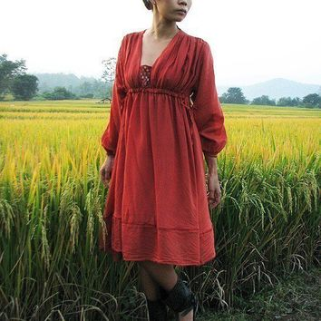 LolaEarthy red mix silk MXL by cocoricooo on Etsy