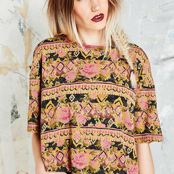 Truly Madly Deeply Slavic Rose Crop Top - Urban Outfitters