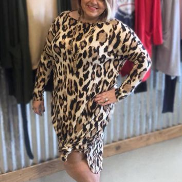 Leopard Long Dress with Pockets