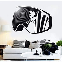 Vinyl Wall Decal Extreme Ski Winter Sport Skiing Stickers Mural Unique Gift (ig4602)