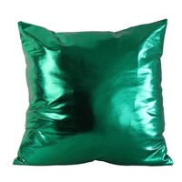 Shiny Solid Pillow Covers
