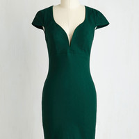 For a Good Cosmo Dress in Forest Green | Mod Retro Vintage Dresses | ModCloth.com