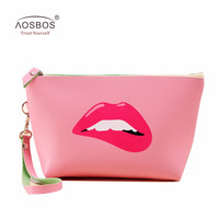 New Arrival Women PU Leather Prints Cosmetic Organizer bag Lady Cute Waterproof European and American Style Storage Makeup bags