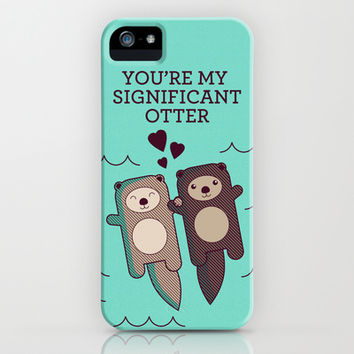 Significant Otter iPhone & iPod Case by Tiny Bee