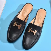 Hermès Women Fashion Simple Casual Flats Shoes
