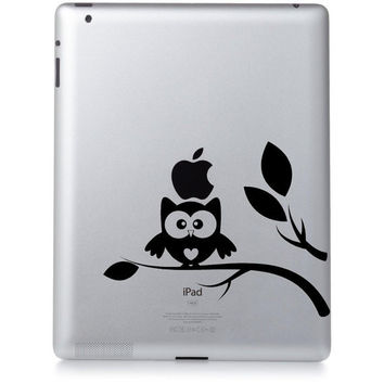 Owl iPad vinyl decal by VinylLettering on Etsy