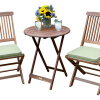 Longley 3-Pc Bistro Set, Sage, Outdoor Dining Sets