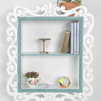 Plum & Bow Scroll-Trim Wall Shelf - Turquoise One
