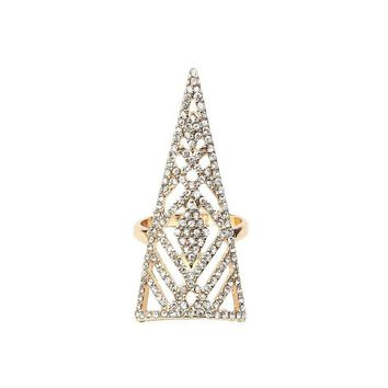 Fancy Crystal Encrusted Pointed Ring