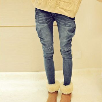 Skinny Jeans with Front Seam Details