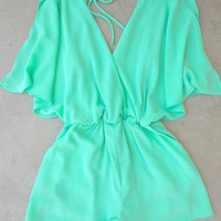 Pacific Coast Romper in Sea [7138] - $36.00 : Feminine, Bohemian, & Vintage Inspired Clothing at Affordable Prices, deloom