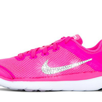 Girls' Nike Flex 2016 - Crystallized Swarovski Swoosh - Big Kids' (3.5y-7y) - Pink