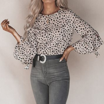 Cruella Dalmatian Print Long Sleeve Top