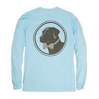 Long Sleeve Original Logo Tee in Country Blue by Southern Proper - FINAL SALE