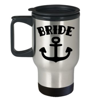 Bride Mug - Coffee Travel Mug,Premium 14 oz Travel coffee cup