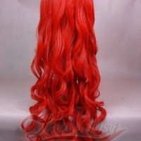 MapofBeauty Fashion Long Big Spiral Curl Cosplay Wig (Red)
