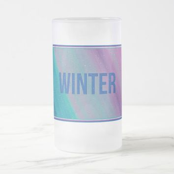 Winter Frosted Glass Mug