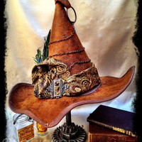 Professor McCOGnagall Steampunk Harry Potter Inspired Whimsical Witch's Hat for Costume, Halloween, Cosplay, Cons