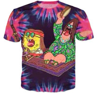 Hippie SpongeBob And Patrick Tee