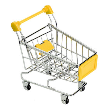 1Pcs Mini Supermarket Shopping Trolley Phone Holder Office Desk Storage Cart Toy Handcart Eco-Friendly Basket Jewelry Stand