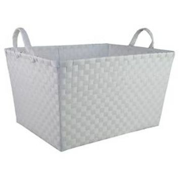 Woven Storage Bin Rectangular White - Pillowfort™