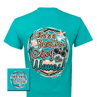 Girlie Girl Originals Lifes A Beach Enjoy Summer Bright T Shirt