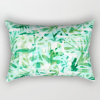 Abstract Jungle Rectangular Pillow by Heather Dutton