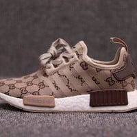 ADIDAS & GUCCI NMD R1 2018 Trendy Fashion Sneakers F/A