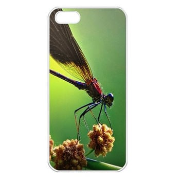 Dragonfly Apple iPhone 5 Seamless Case (White)