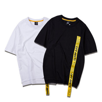 Short Sleeve Round-neck Couple 925 T-shirts [10199590727]