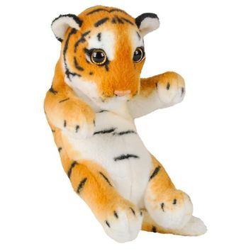8 Inch Small Baby Tiger Cub Stuffed Animal Plush Floppy Zoo Safari Cubs Collection