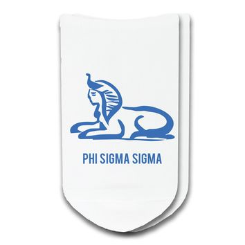 Phi Sigma Sigma - Sorority Icon No-Show Socks