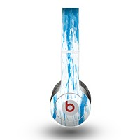 The Running Blue WaterColor Paint Skin for the Beats by Dre Original Solo-Solo HD Headphones