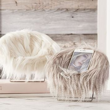 Faux-Fur Hang-A-Round Phone Chair