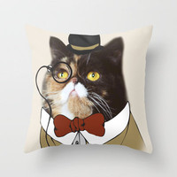 Dapper Pudge (Limited Edition Print - PudgeTheCat.com) Throw Pillow by Cats Of Instagram | Society6
